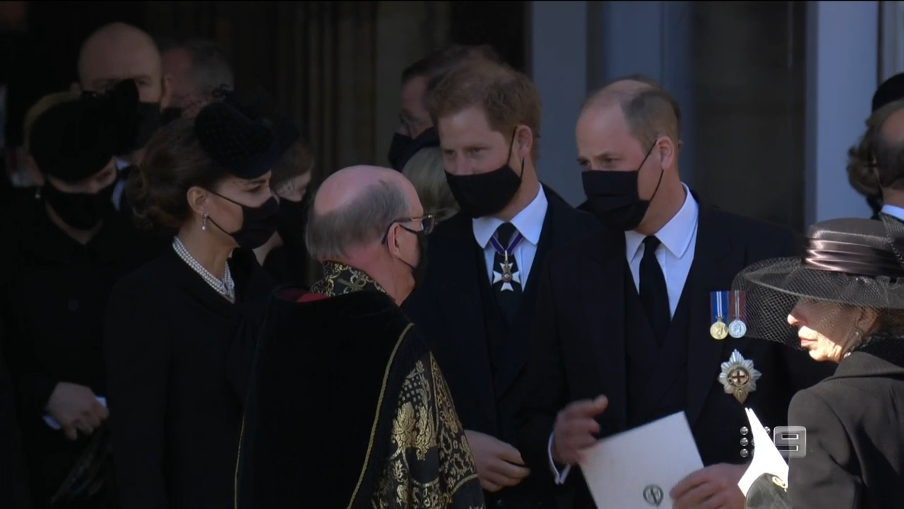 Royal family leave St.George's Chapel after funeral