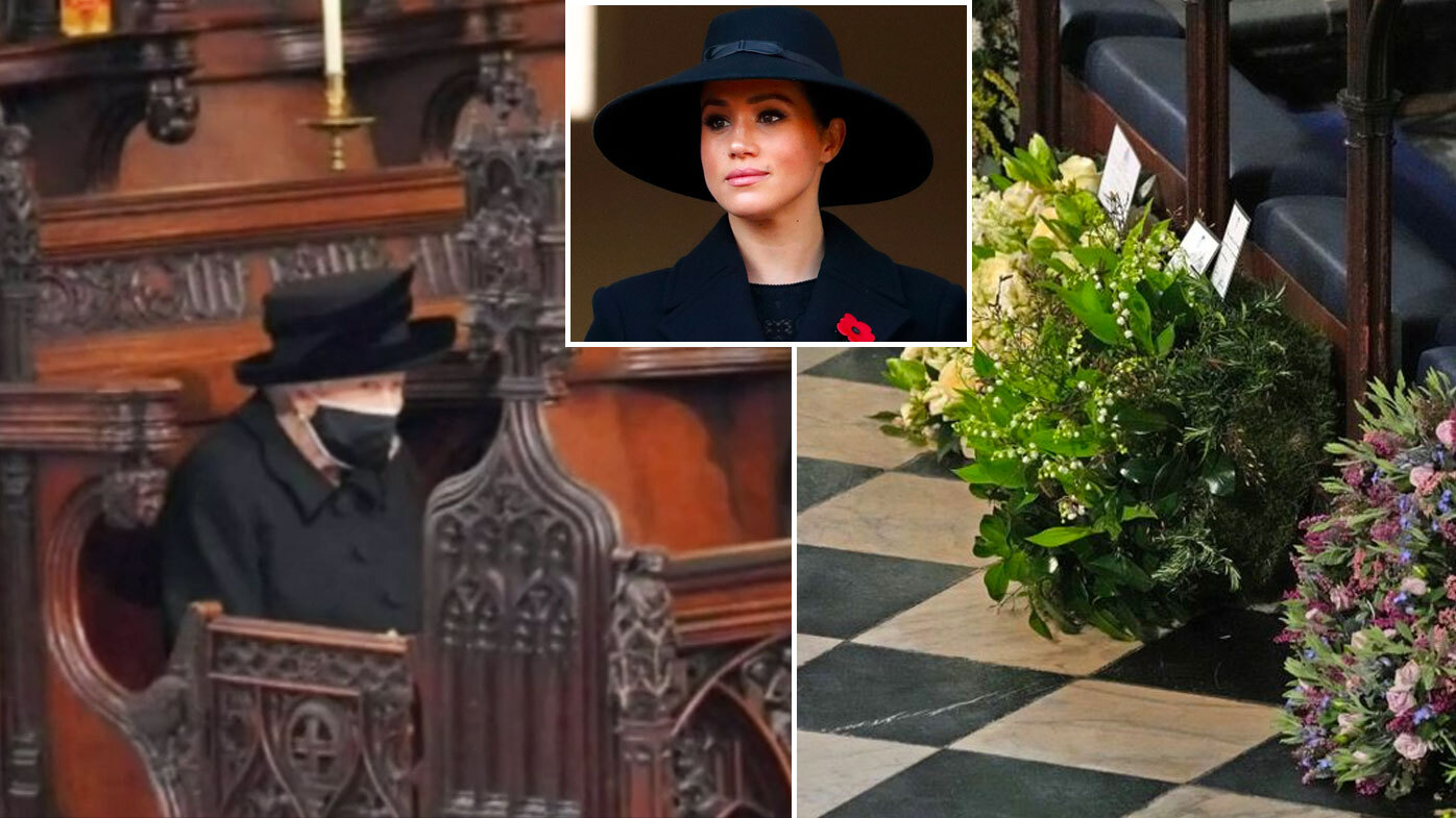 Meghan's note on wreath laid at Prince Philip's coffin