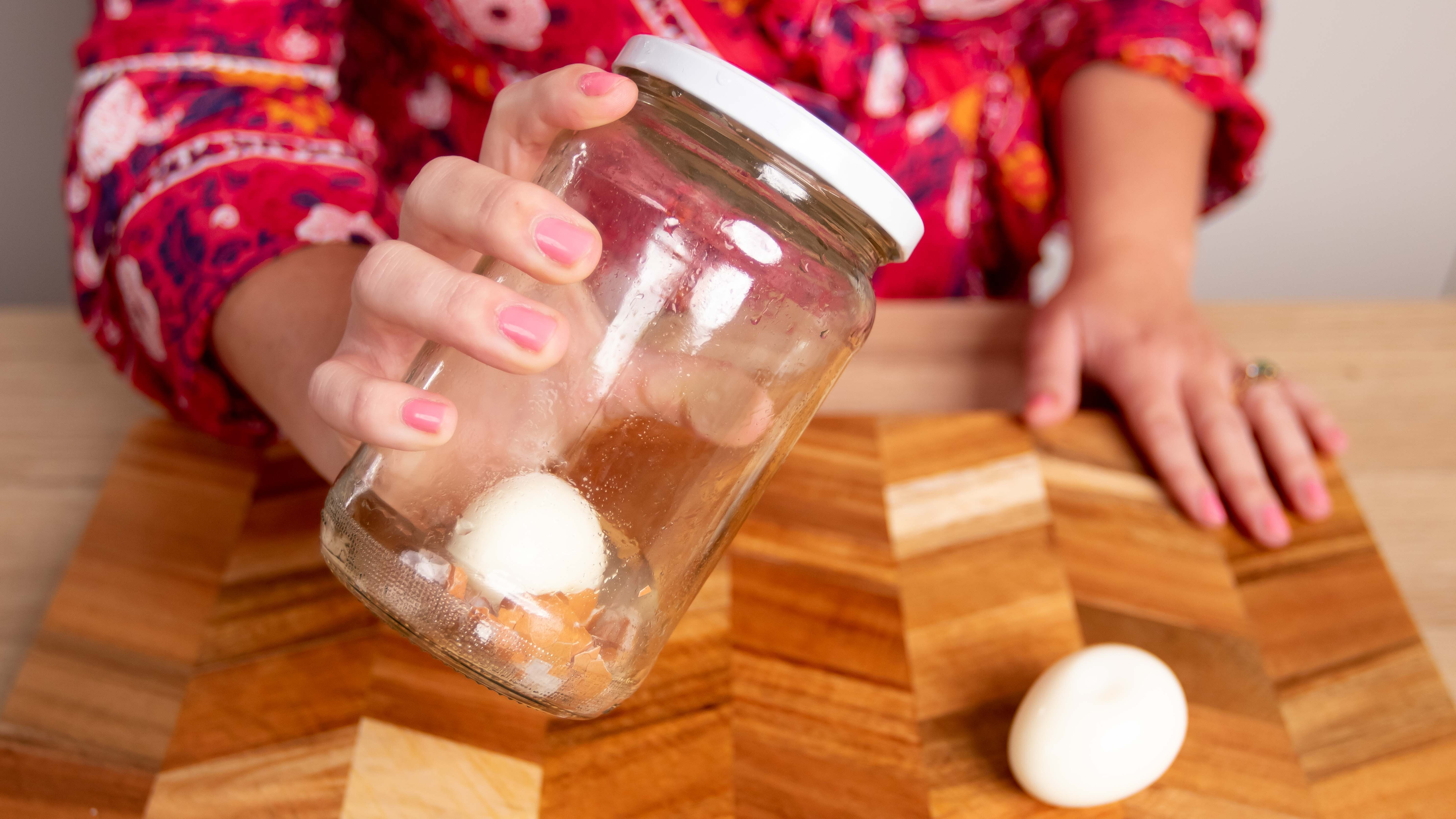 The viral egg peeling hack that actually works