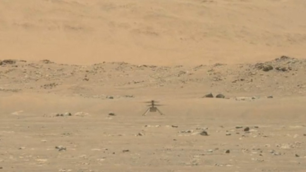 Mini robot helicopter takes 40-second flight over Mars