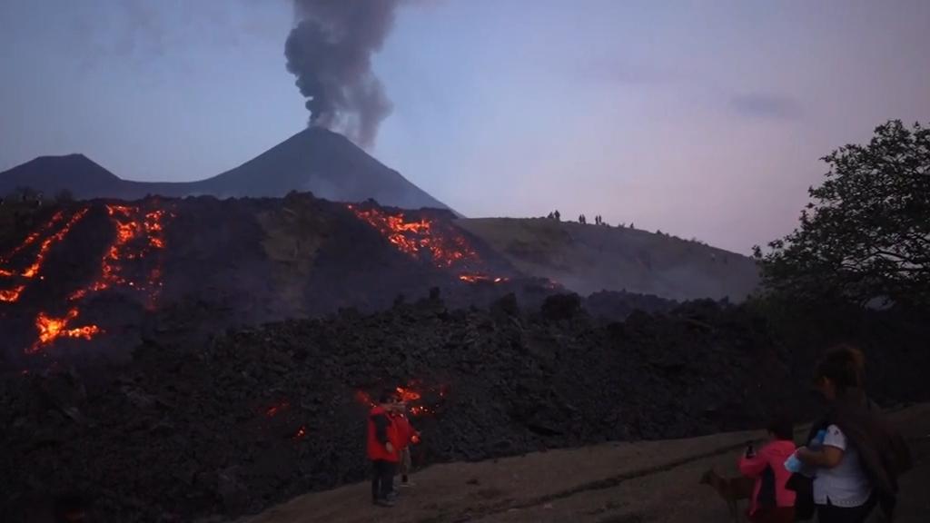 Lava from Guatemala's Pacaya volcano threatens towns