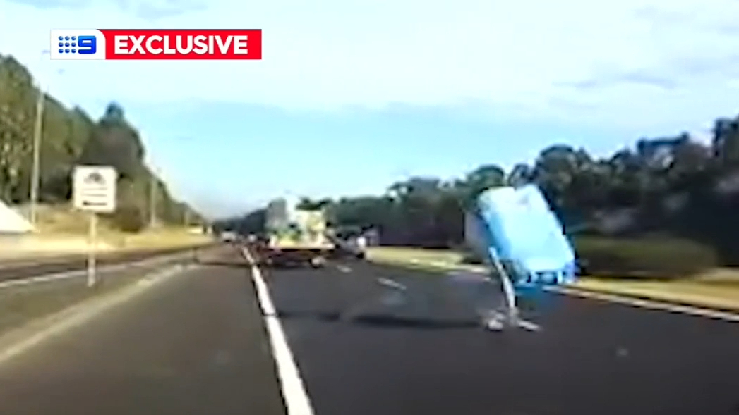 Driver dodges flying object on Sydney motorway