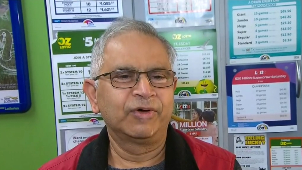 Local newsagency owner excited after selling winning ticket for $80m jackpot