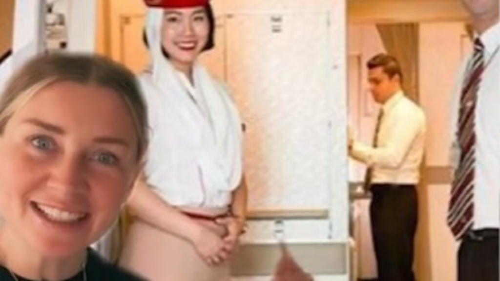 Flight attendant reveals what cabin staff are really doing when they greet you