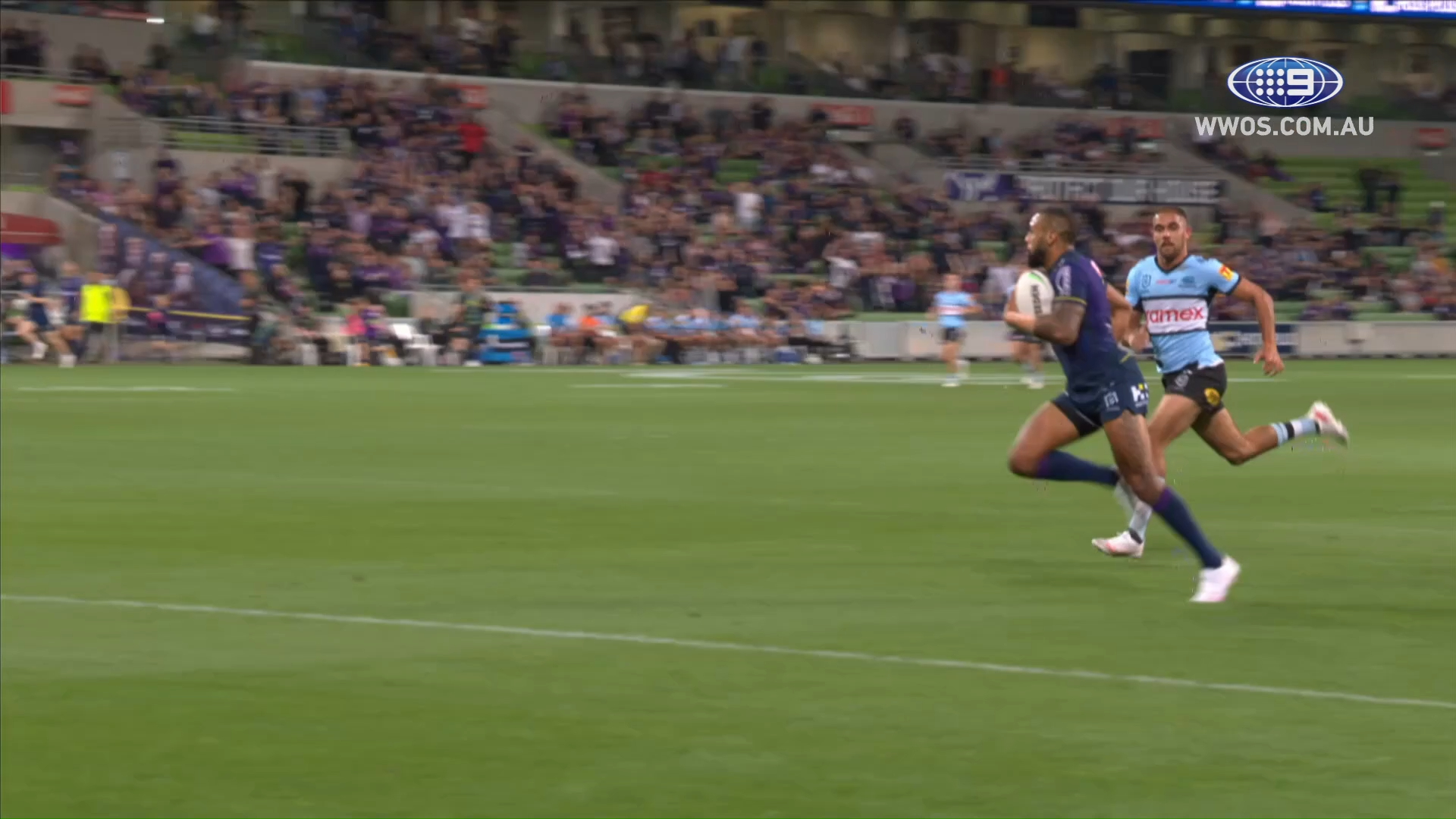 NRL Highlights: Storm rally in the second half to blowout the Sharks - Round 8