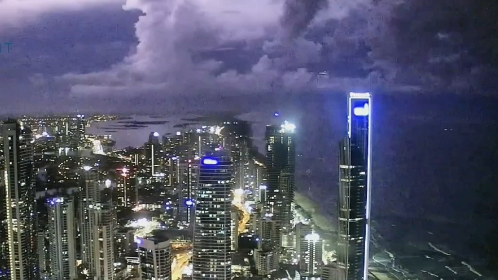 Brisbane hidden in clouds and lashed by severe wet weather