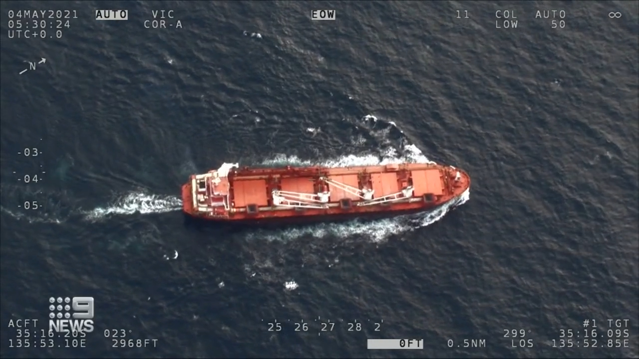 Rescue after man falls on bulk carrier ship