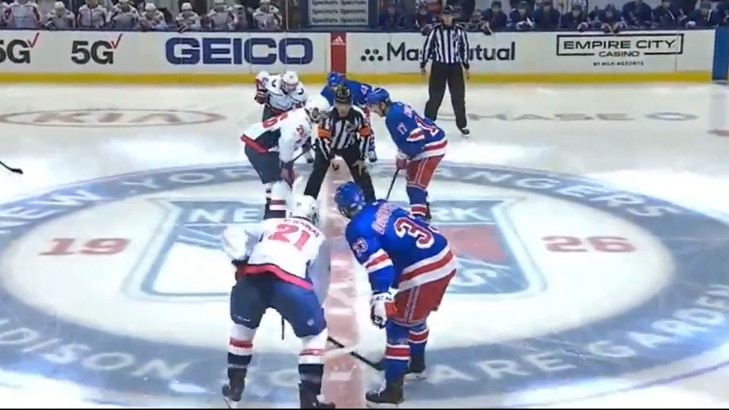 Wild brawl at start of NHL game
