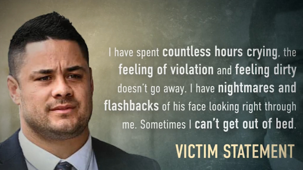 Jarryd Hayne's victim speaks of nightmares, flashbacks of sexual assault