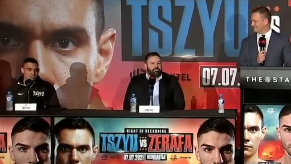 Tszyu, Zerafa trade barbs