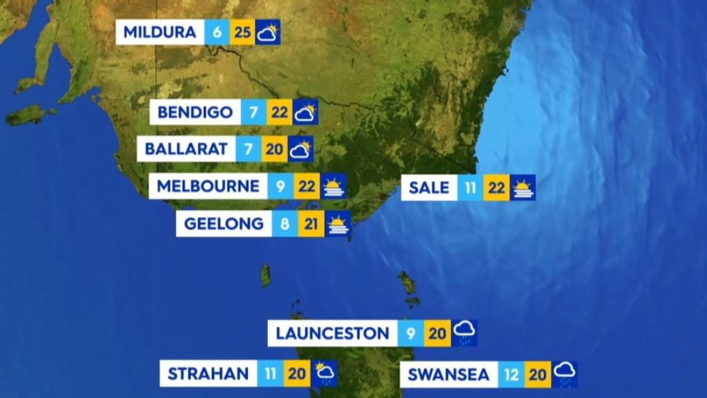 National weather forecast for Friday May 7, 2021