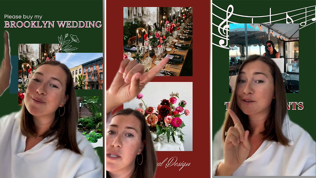 Bride lists ready-made wedding for sale on TikTok including wedding dress