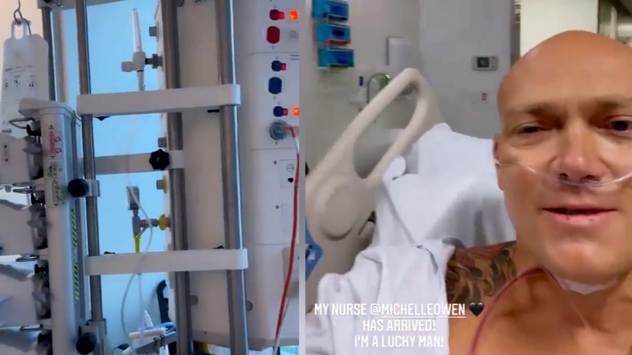 Michael Klim shares video from hospital