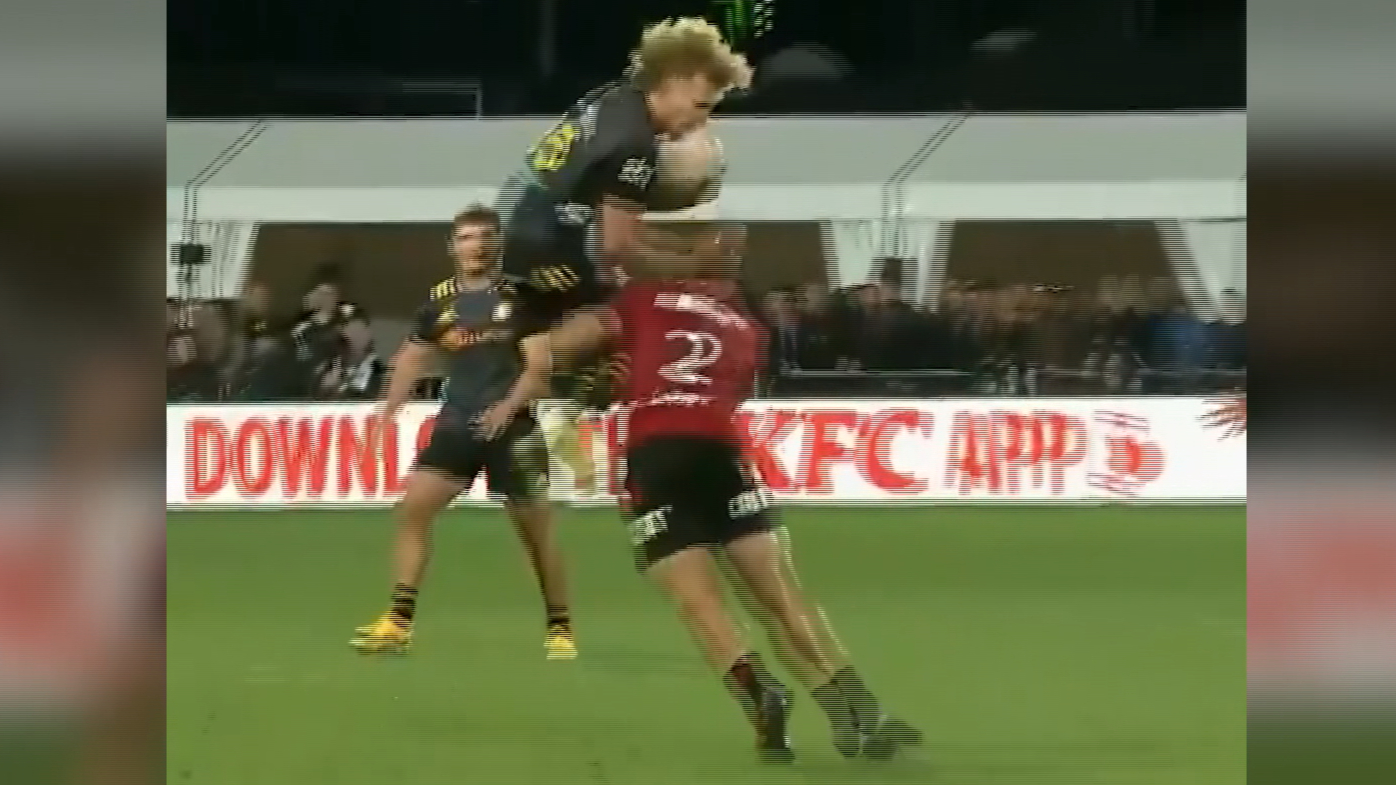 Crusaders star binned for dodgy tackle