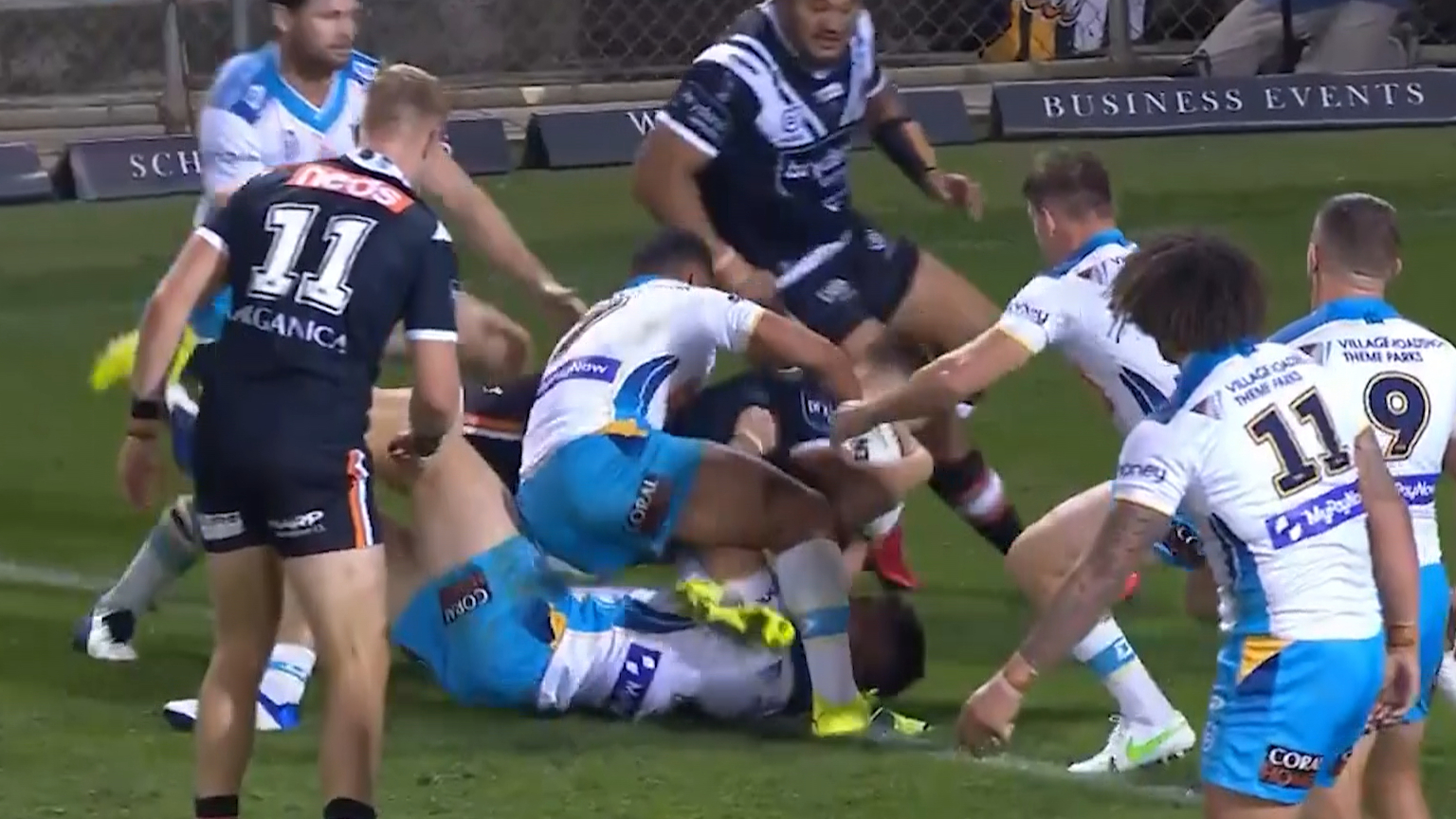 Simpkin gets first NRL try