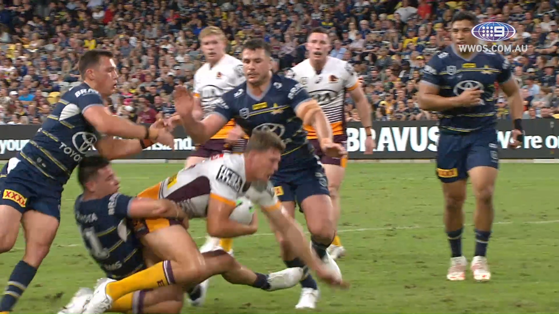 NRL Highlights: Cowboys edge past the Broncos in a thriller - Round 9