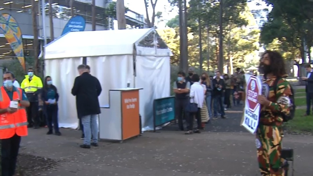Sydney Olympic Park mass vaccination hub successful on first day of operation