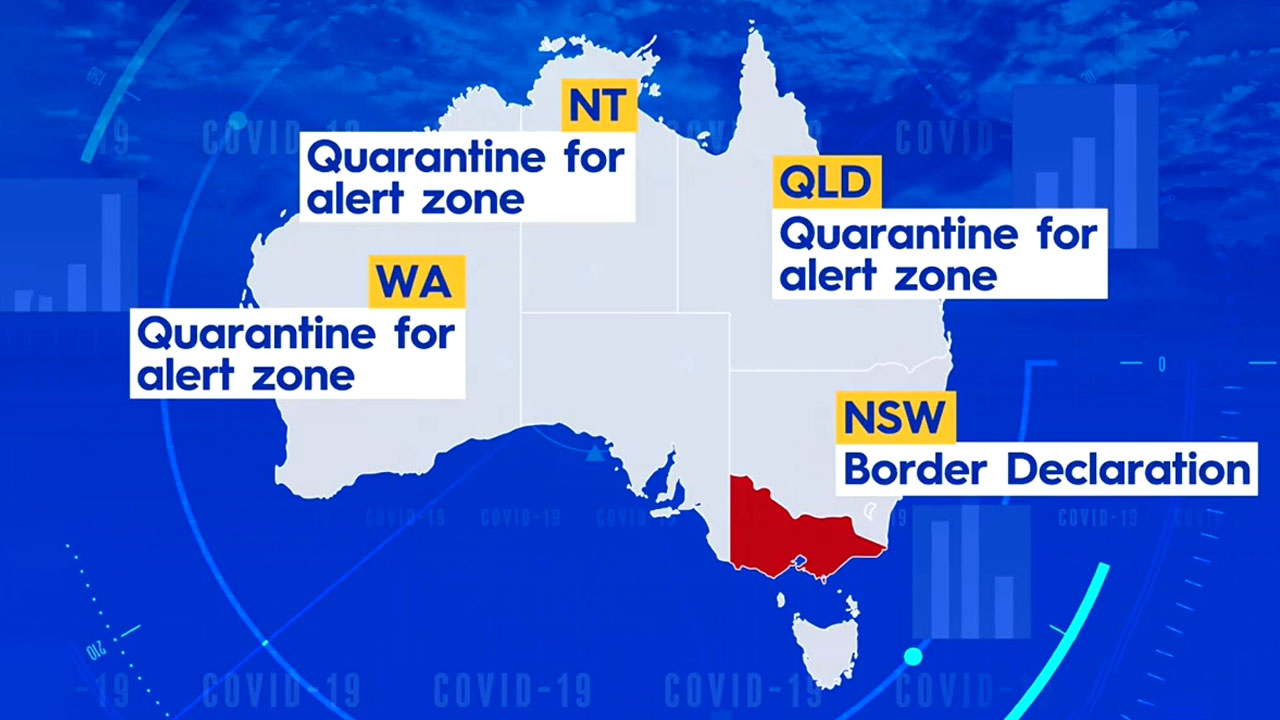 State-by-state border measures after new Victoria COVID case