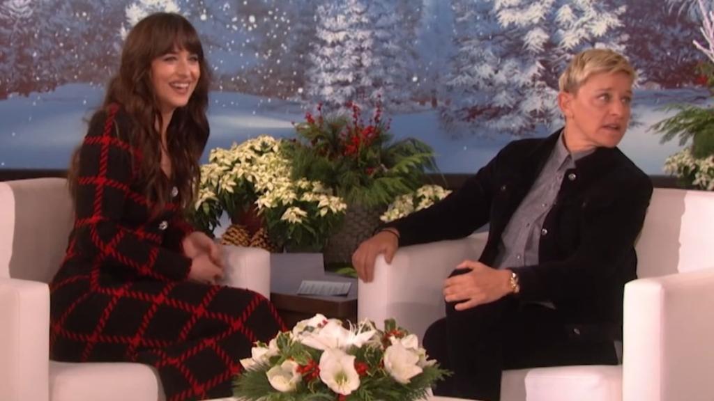 Dakota Johnson's interview on Ellen DeGeneres