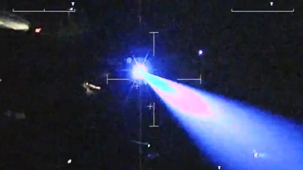Man charged after laser pointed at PolAir helicopter