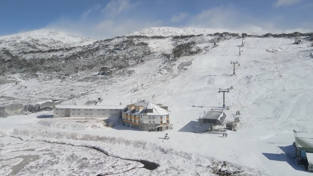 Perisher blanketed with snow