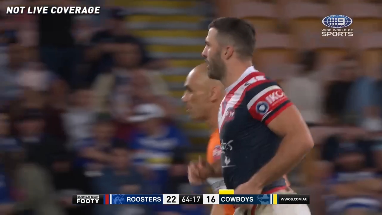 Tedesco cleaned up by high shot
