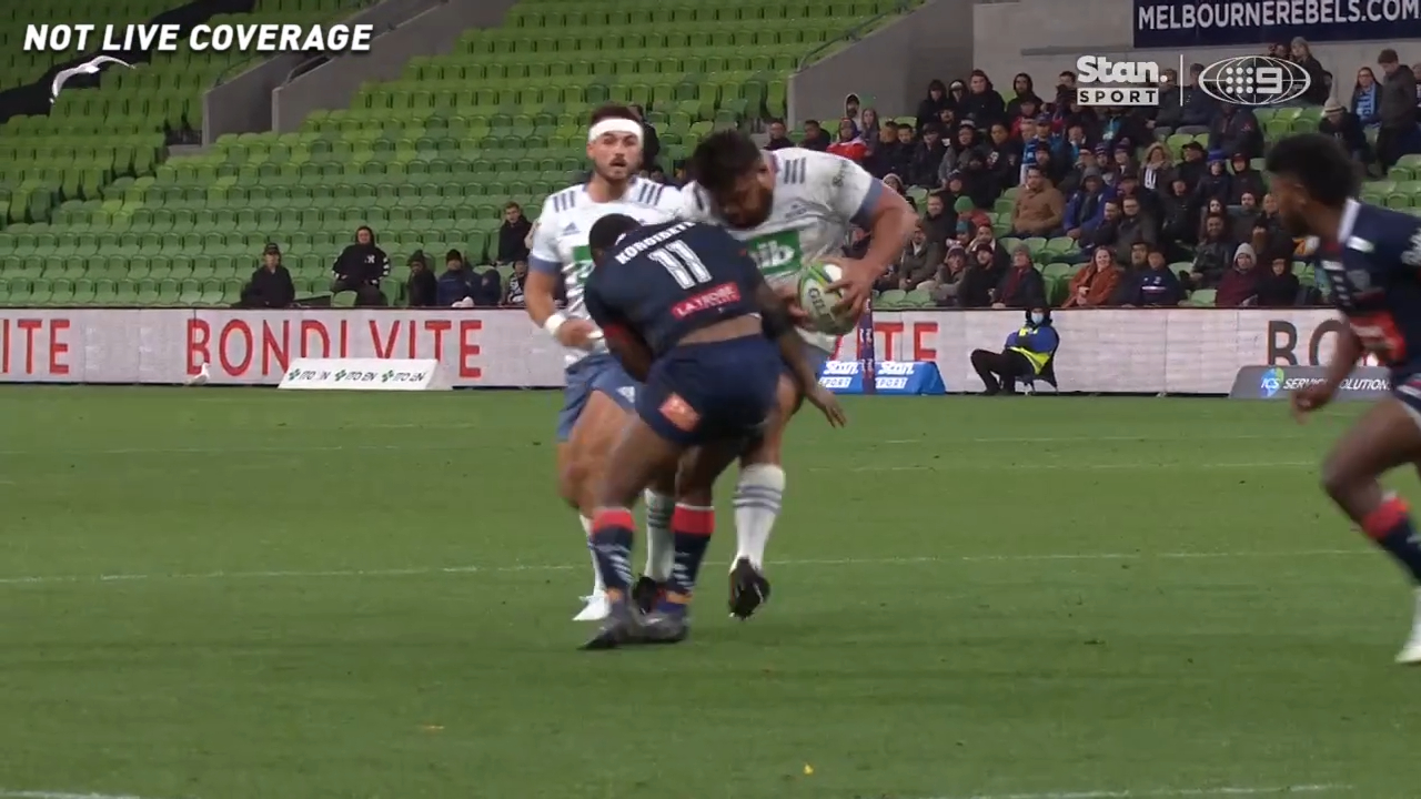 Koroibete rocks Blues prop