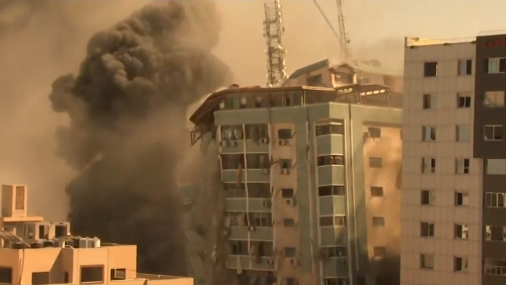 Israeli airstrike destroys offices of major news organisations