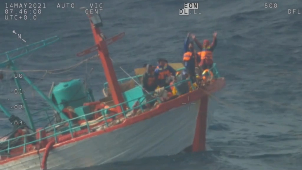 Indonesian fishermen rescued off WA coast