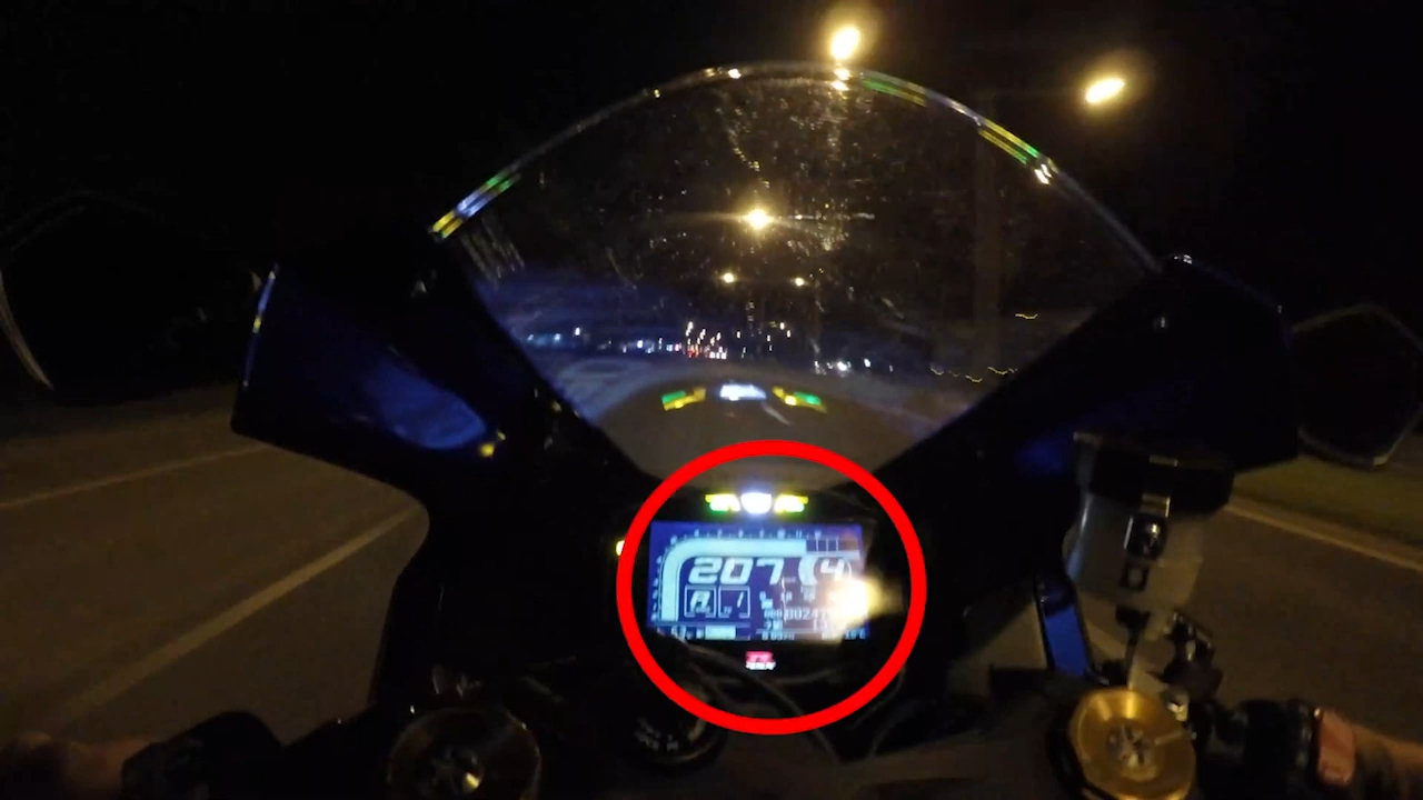 Motorcyclist films his own crash