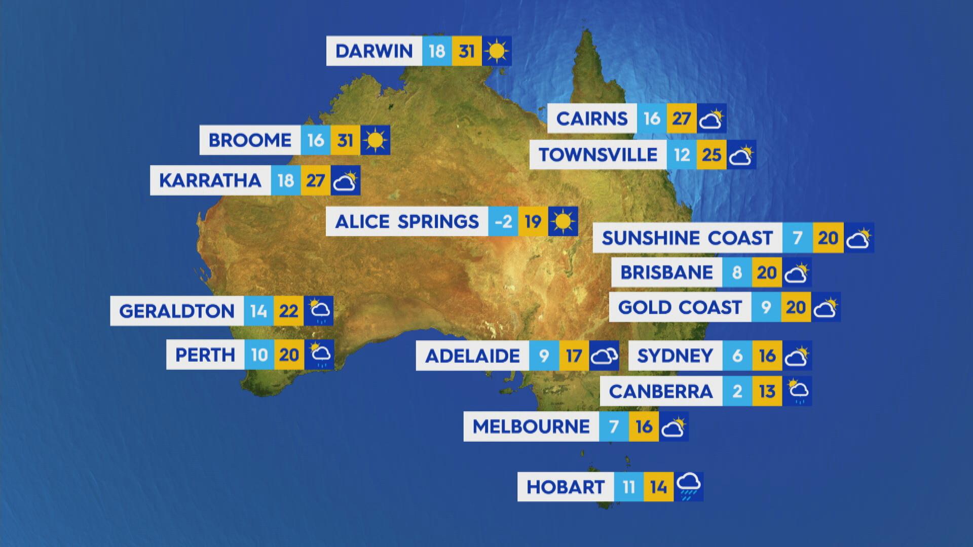 National weather forecast for Thursday June 11, 2021