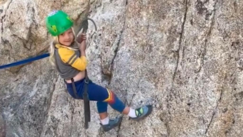 Pink and Carey Hart's kids show off their impressive rock climbing skills