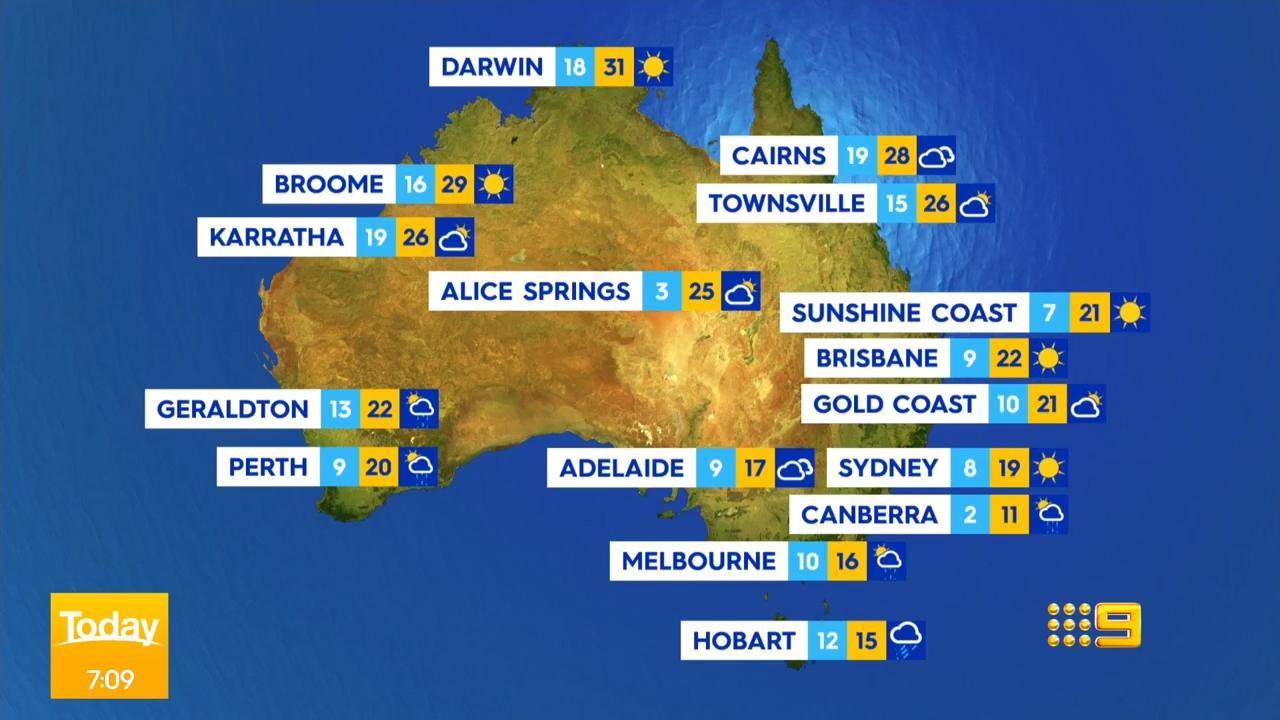National weather forecast for Thursday June 12, 2021