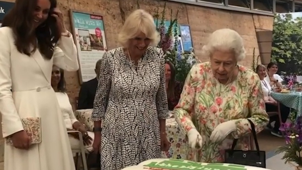 The Queen, Kate and Camilla join together for rare engagement