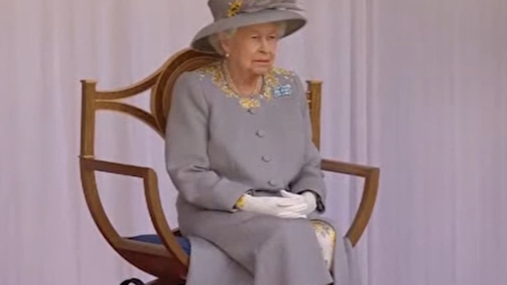 Queen Elizabeth attends Trooping the Colour 2021