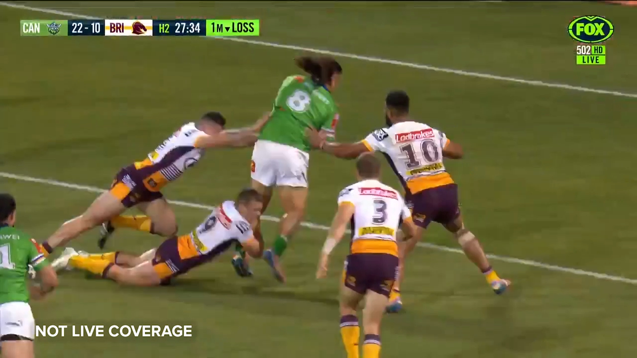 Papalii pushes over