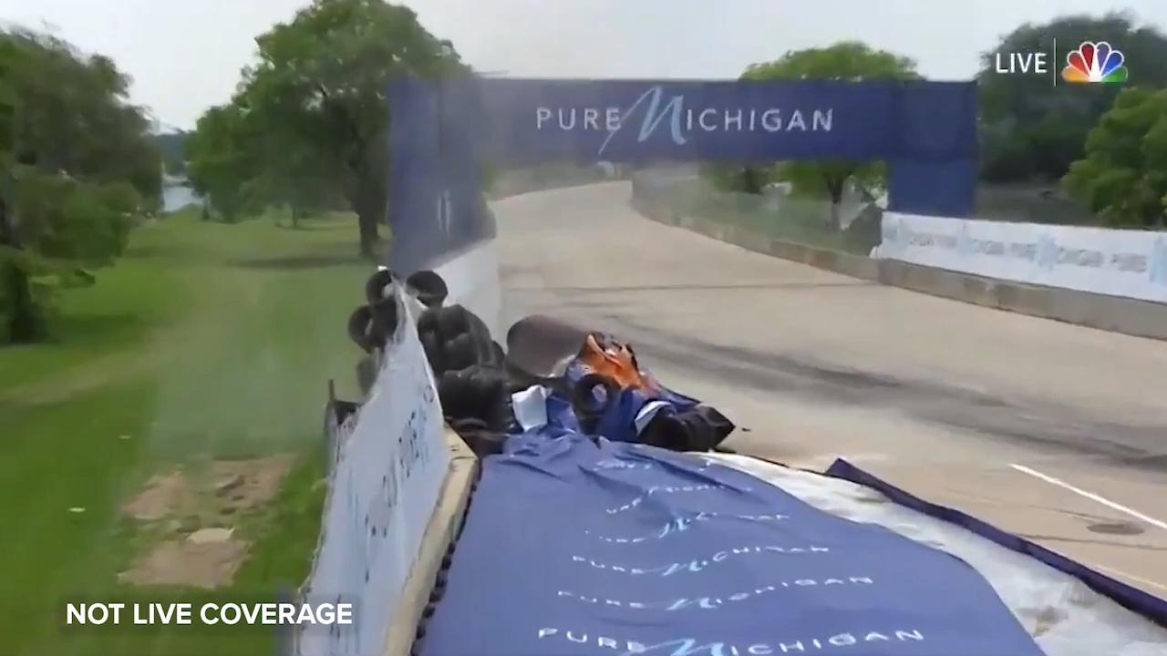 Driver hospitalised after scary IndyCar crash