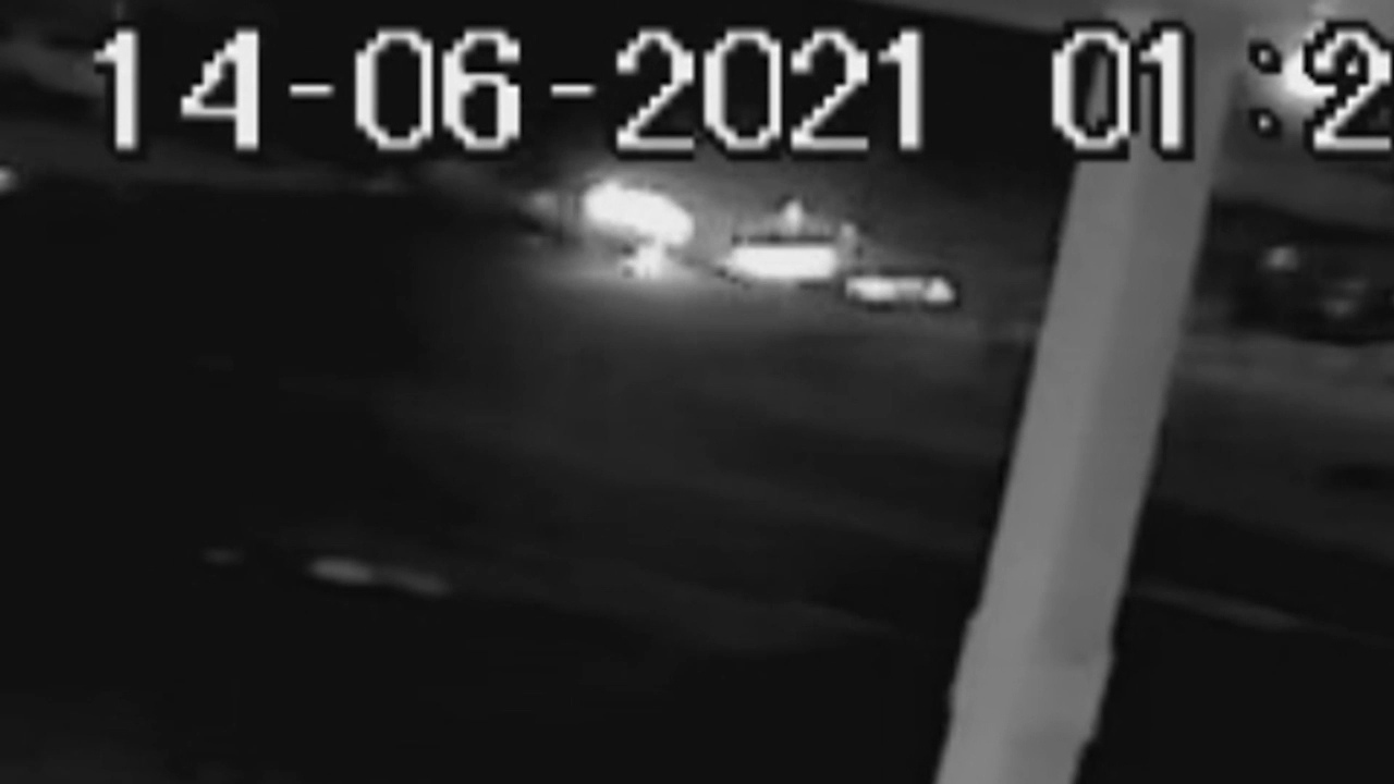 CCTV shows car spinning before crashing into Sydney home