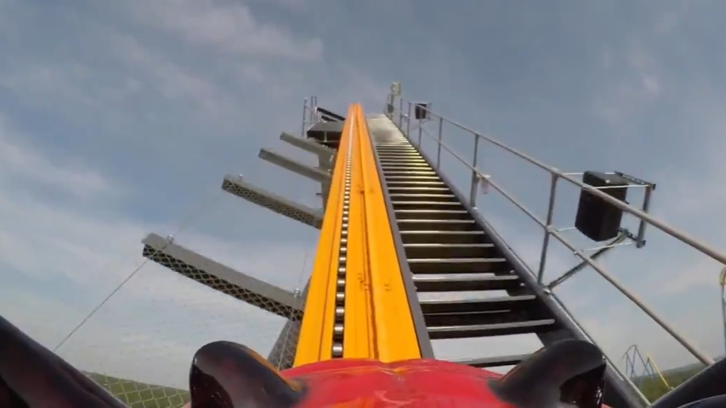 Jersey Devil, world's tallest single-rail coaster, opens at Six Flags Great Adventure in New Jersey