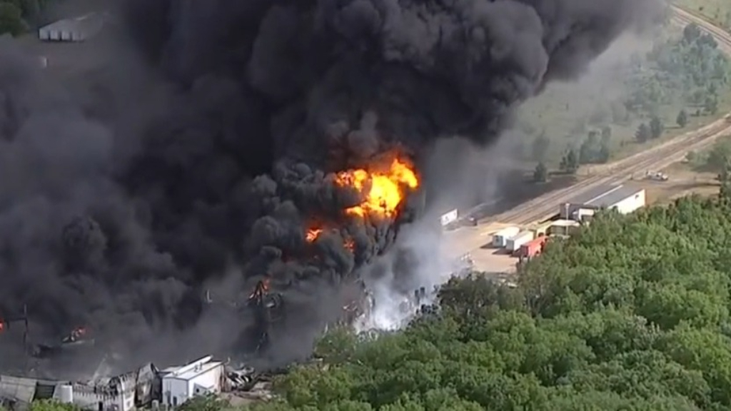 Massive chemical fire in Illinois prompts authorities to order evacuations