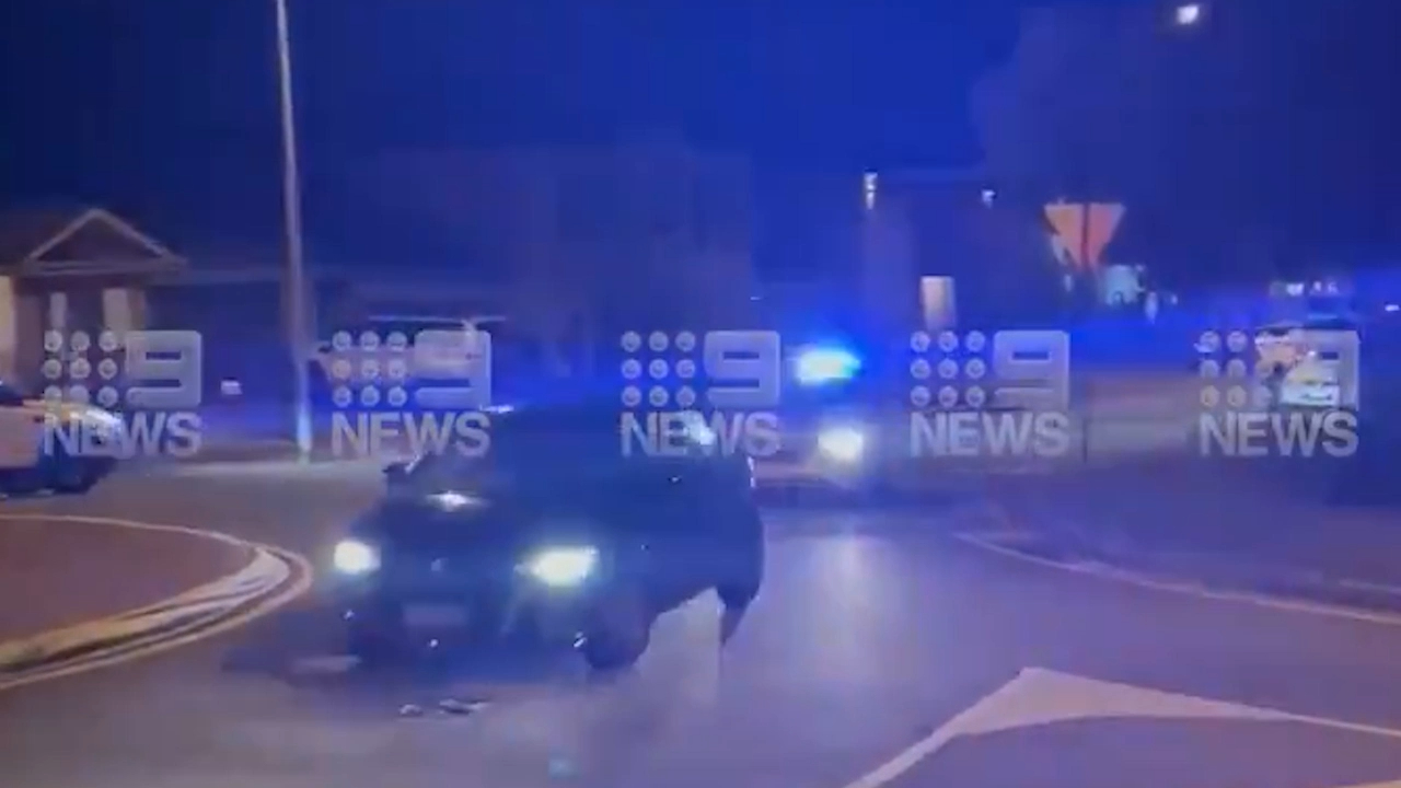 Police use tyre spikes to end low-speed chase through Adelaide