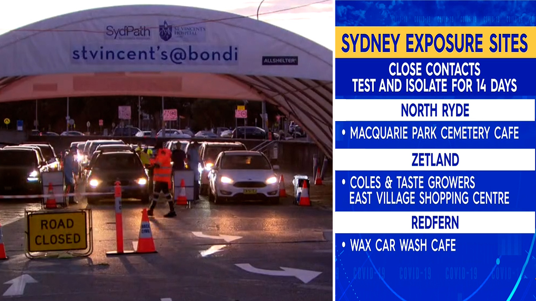 Sydney on alert after new COVD-19 cases