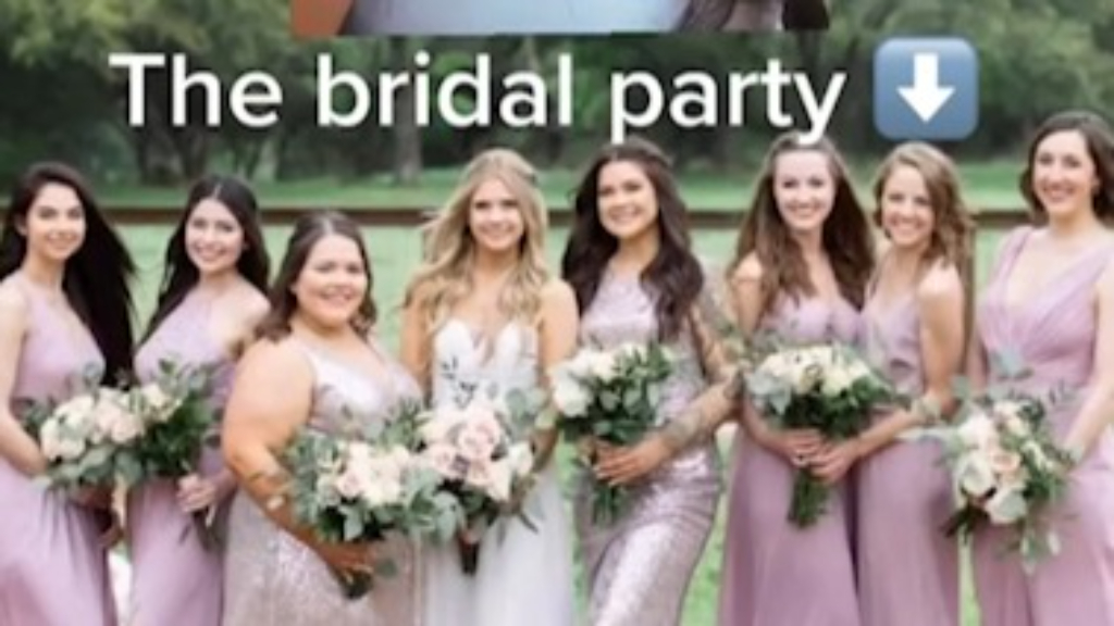Wedding guest mortified after turning up in an identical dress to the bridal party
