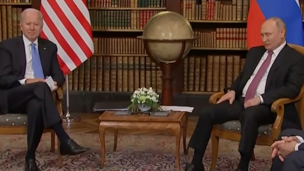 US President Joe Biden meets with Vladimir Putin