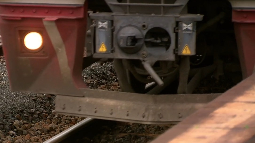 Two V-Line trains narrowly avoid on-head collision.