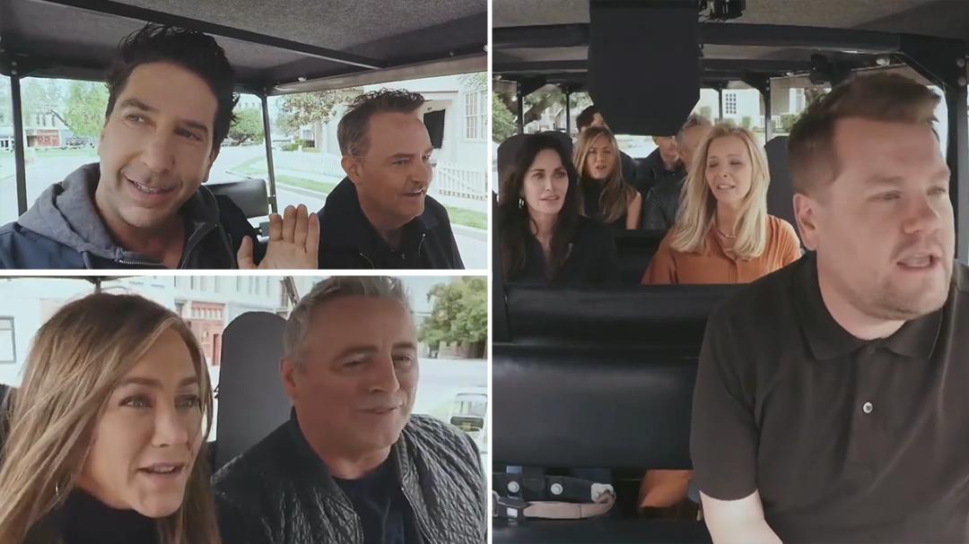 Friends cast does Carpool Karaoke