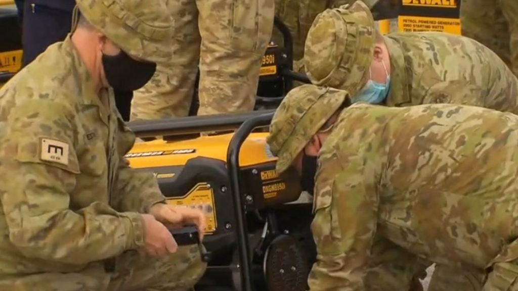 ADF helps deliver emergency power to storm-affected Victorians