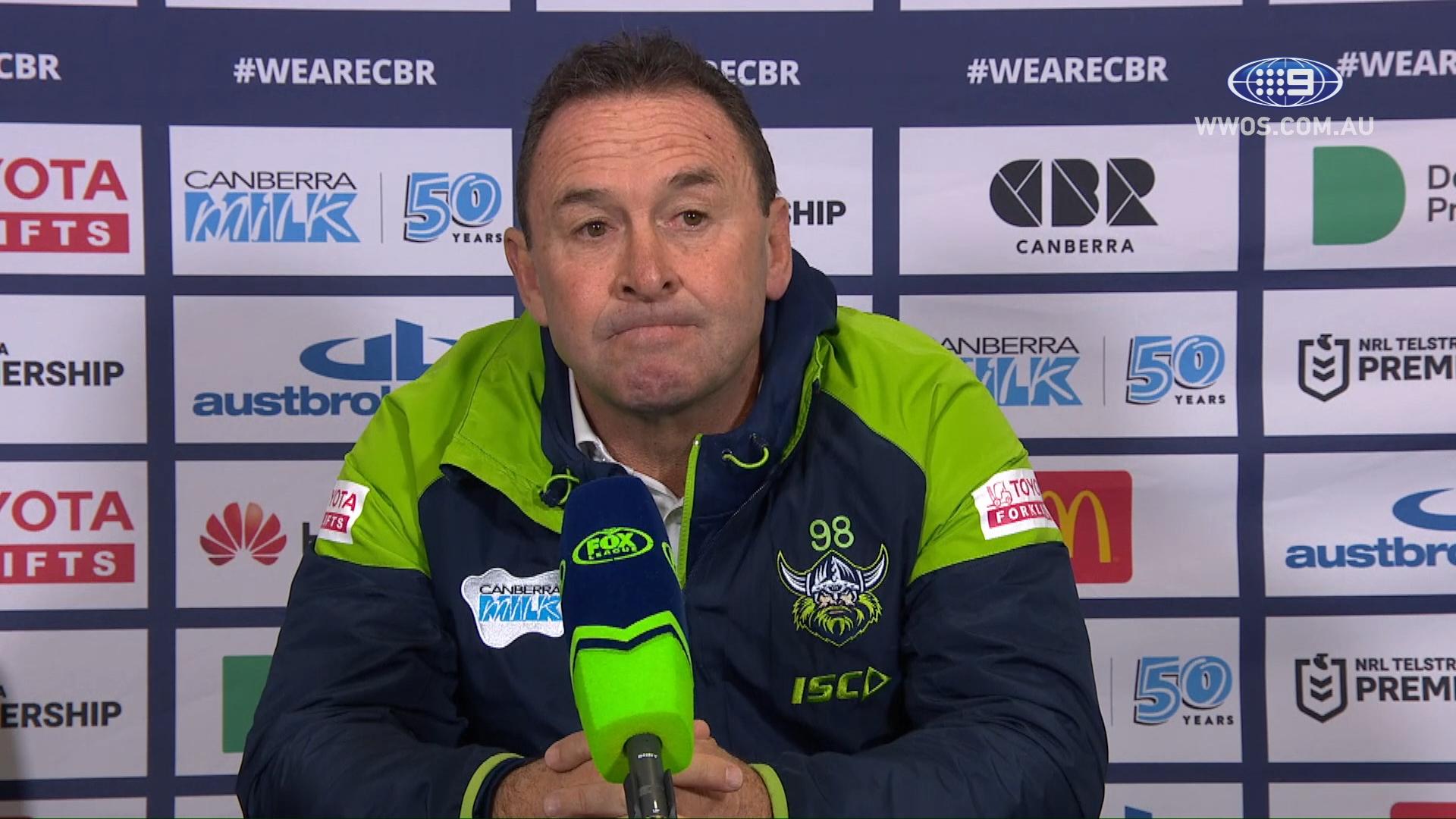 NRL Presser: Ricky Stuart explains 18th man mistake