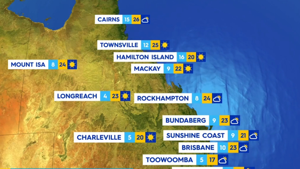 National weather forecast for Monday, June 21