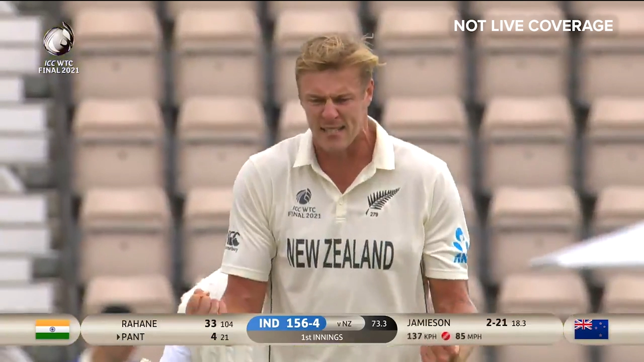 Jamieson tears through Indians in first innings